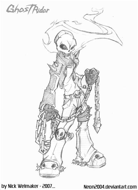 doodle rider ghostrider cm sketch by whirlwind04 on deviantart