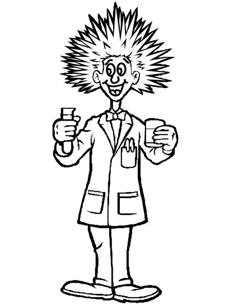 Scientist Coloring Page Az Coloring Pages