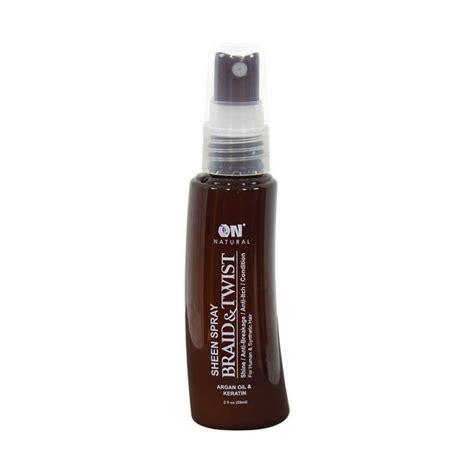 all natural braid spray on natural argan oil keratin sheen spray braid twist 2 oz