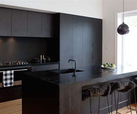 kitchen design  black cabinets apartment design