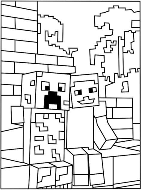 minecraft holiday coloring pages kids n fun 19 kleurplaten van minecraft