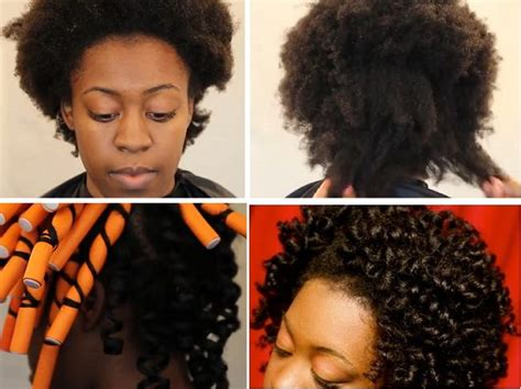flexi rod stretch long 4b c hair stretch 4c hair with flexi rods tutorial relaxed