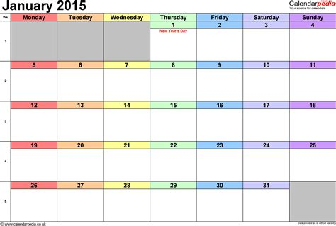 2015 monthly calendar template with holidays calendar january 2015 uk bank holidays excel pdf word