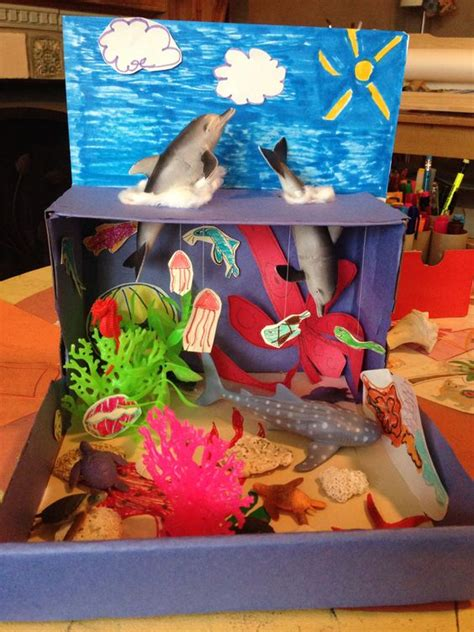 printable diorama animals ocean habitat diorama homeschool science projects