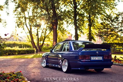 bmw m3 stanced the quest to break quot 10 quot johan s turbo e30 m3 stanceworks