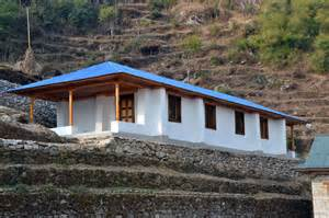 finished earthbag school in nepal building