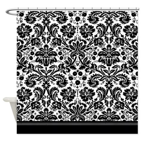 black white damask curtains black and white damask shower curtain by inspirationzstore