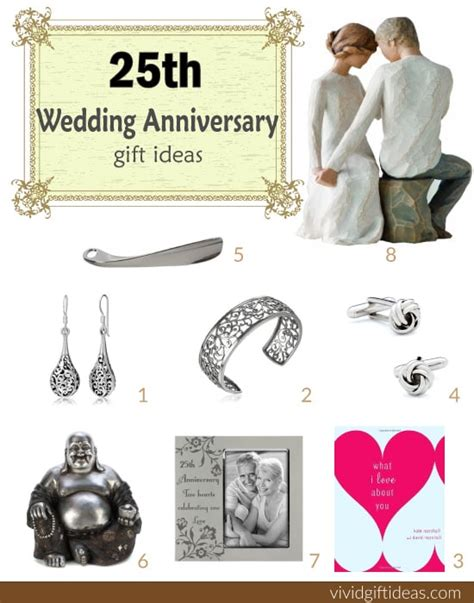 25 gift ideas top 28 wedding anniversary gifts 25th wedding silver