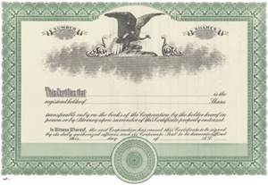 Corporate Stock Certificate Template Free Blank Stock Certificate Free Printable Documents