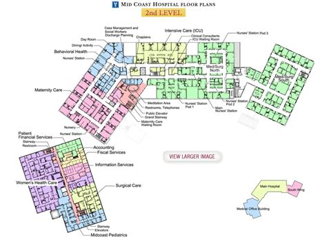 Floorplanes mid coast hospital find us floor plans level 2