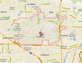 where is fullerton california in a map fullerton senior living community resources maps and
