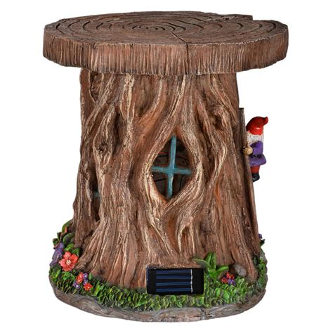 solar ornaments outdoor solar powered tree house led garden ornament patio outdoor