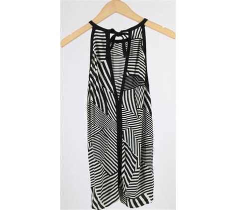 Baju Jumpsuit Wanita Import White Halter Stripe Size L 301371 zara black and white striped halter neck sleeveless