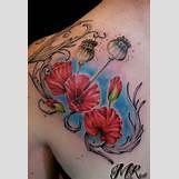 Opium Poppy Flower Tattoo | 575 x 846 jpeg 51kB