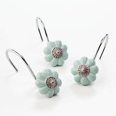 teal shower curtain hooks 31 best images about decorative shower curtain hooks on
