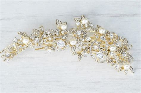 Wedding Hair Accessories Nyc by Gold Floral Hair Comb Bridal Hair Comb Bridal