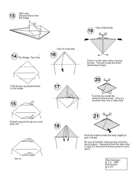 How To Make A Origami Wars Ship - wars origami