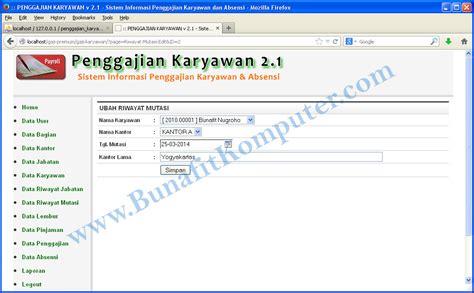 download form absensi karyawan contoh aplikasi absensi karyawan dengan php download calaf