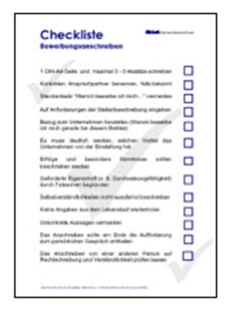 Vorlage Word Checkliste Bewerbung Vorlagen Kostenlos