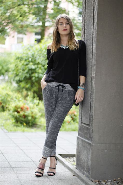 girls gray and black joggers pants joggers for women outfits www pixshark com images