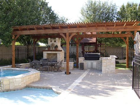 pool and outdoor kitchen designs triyae com pictures of outdoor pools and kitchens