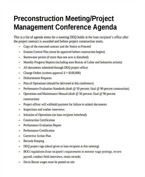 project management meeting agenda template ideal project management meeting agenda template baskan idai co