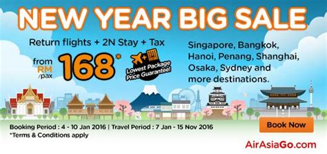 new year sales singapore 2016 airasia airlines malaysia promotion january 2016