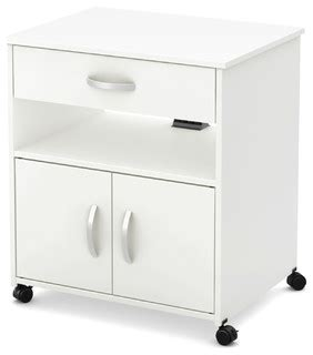 south shore microwave cart on wheels contemporary