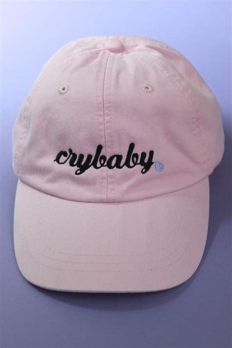 light pink baseball cap crybaby light pink baseball cap from era of artists dresses