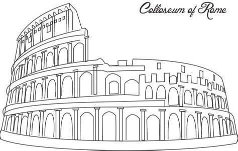 Rome Coloring Pages Colloseum Of Rome Coloring Printable Page For Kids