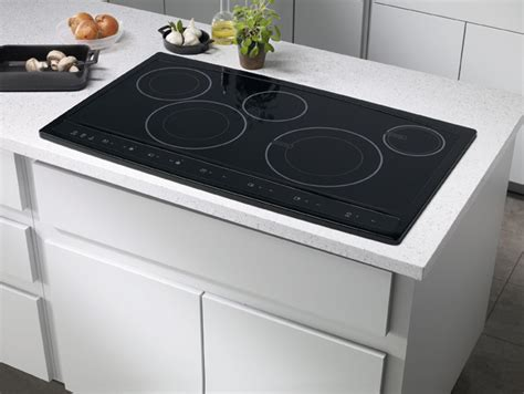 36 inch induction cooktop with downdraft electrolux ew36cc55gb 36 inch hybrid induction cooktop