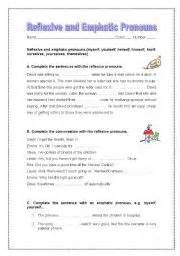 reflexive and emphatic pronouns