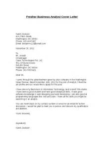 Email Cover Letter For Business Analyst Fresher Business Analyst Cover Letter Hashdoc