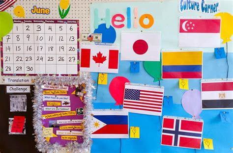 themes for an english day esl bulletin board ideas for jet program alts
