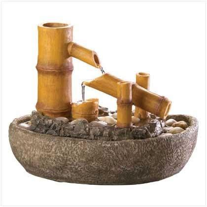 bamboo indoor water fountain for the home pinterest
