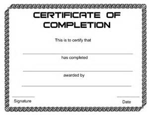 certificate of completion template free certificate of completion free certificate of completion