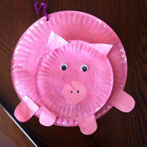 Crafts With Paper Plates For Preschoolers - paper plate pig preschool crafts paper