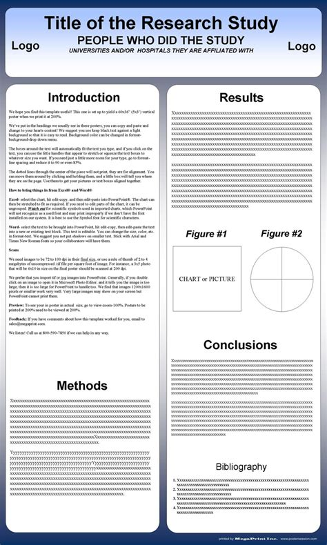 posters templates free powerpoint scientific research poster templates for