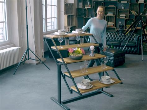 swing table the swing shelf turns into a dining table in one pull