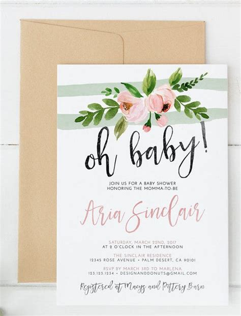 Baby Shower Titles For Invitations by 25 Best Ideas About Floral Baby Shower On
