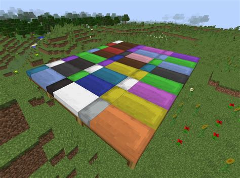 bed in minecraft beds now with color links in comments minecraft