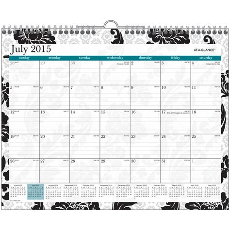 systems design undergraduate calendar amazon com at a glance monthly wall calendar madrid