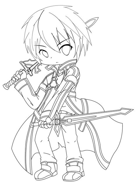 anime coloring pages sword art online kirito sword art online coloring page colouring in pages