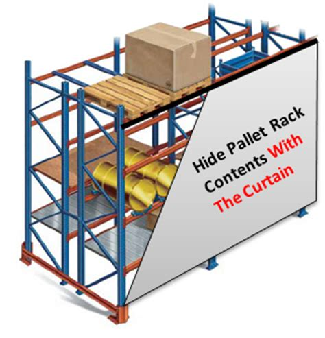 Divider Rack by Pallet Rack Curtains Pallet Rack Covers Akon Curtain