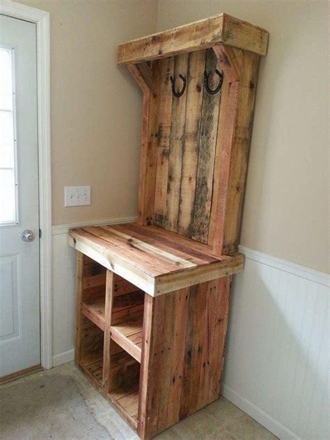 pallet entryway bench  owner builder network