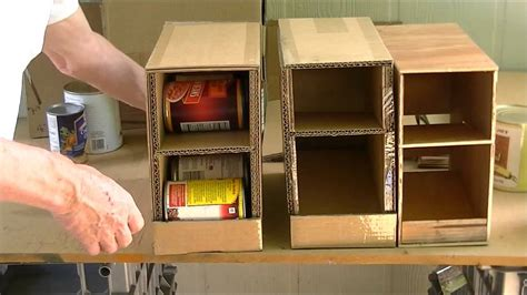 Kitchen Island Plans Diy home made can organizer youtube