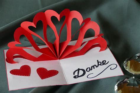 How To Make A Card Youtube - herz klappkarte heart pop up card muttertag hochzeit valentinstag geburtstag youtube