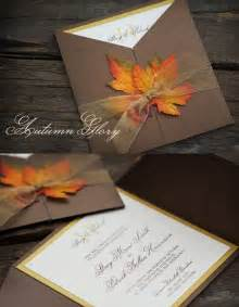 picture of stylish and fall wedding invitations