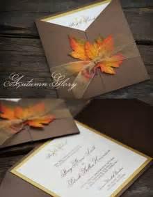 Stylish and elegant fall wedding invitations weddingomania