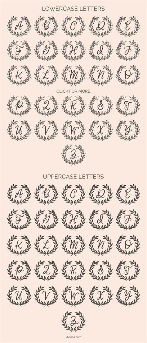 Wedding Font Dingbats by Classic Wreath Monograms Dingbat Font